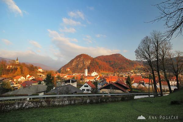 Kamnik and Stari grad from Zaprice hill
