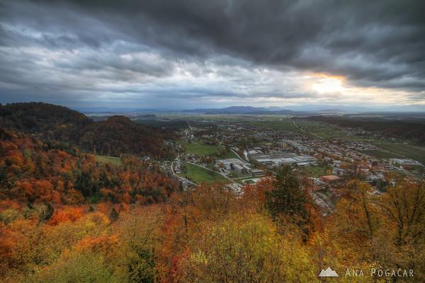 View of Kamnik from Stari grad hill