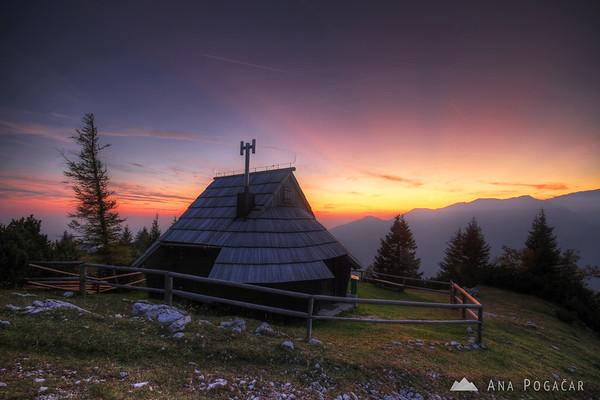 Velika planina at dusk