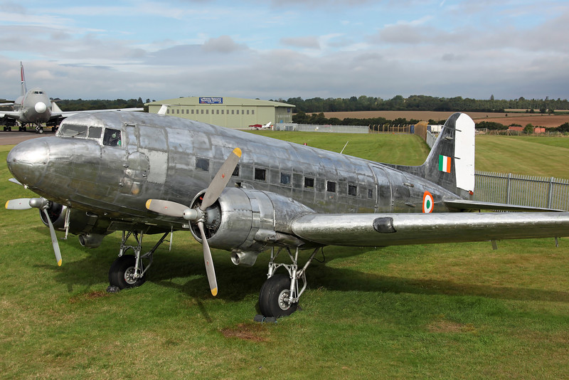 (N347DK) DC-3C (C-47B 32820) DC3 Holding Inc. Arrived from Weston, Ireland on 19th June, for preperation for the Indian AF Vintage Aircraft Flight at Palam. Previously Air Atlantique G-AMSV (which left Coventry on 19/11/09 for Weston).
