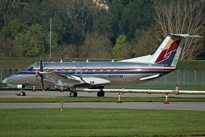 N597M EMB-120ER Menard Inc (Registered Jul09, ex Skywest N232SW). Still in Skywest colours, with changed tail design.
