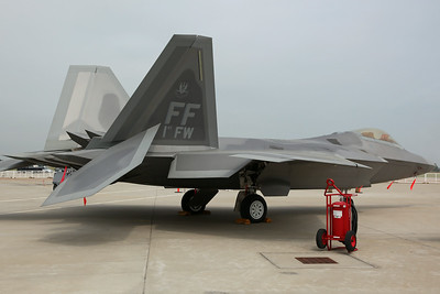 08-4162/FF F-22A USAF 94FS/1FW (Wing Commander's aircraft, marked as '1st FW')
