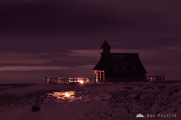 Velika planina chapel after the Christmas midnight mass, after everybody was gone.