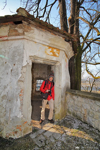 Sebastian at the Zaprice castle