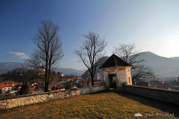 Zaprice castle wall