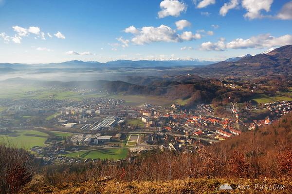 Kamnik from Špica hill