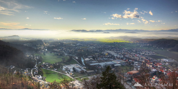 Kamnik from Stari grad hill