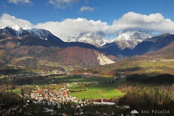 Kamnik Alps from Stari grad hill