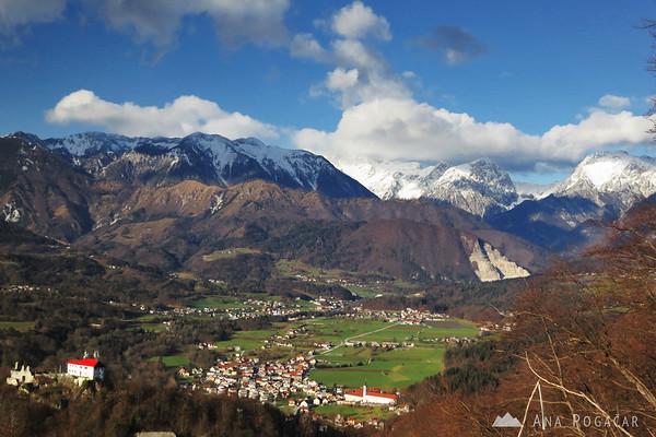 Kamnik Alps from Špica hill