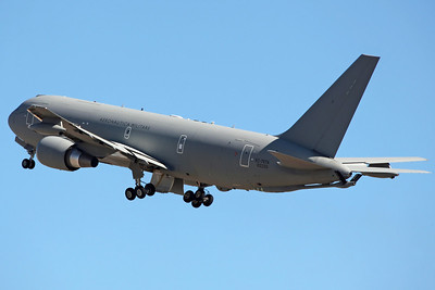 (MM)62229/14-04 KC-767A Italian AF 14Stormo/8Gruppo. First KC-767A delivered, to Pratica di Mare in 1/11, named 'We Have A Dream'. Operating regular flights here as part of Task Force Air - Al Bateen since 5/11, providing equipment and personnel support for operation Enduring Freedom in Afghanistan.