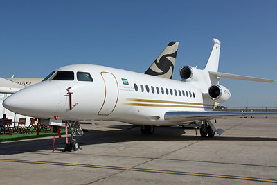 HZ-SPAJ Falcon 7X Saudia Private Aviation. Delivered new 7 days earlier (their fourth Falcon 7X).