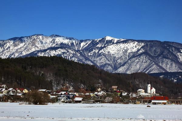 Podgorje and Velika planina in the background