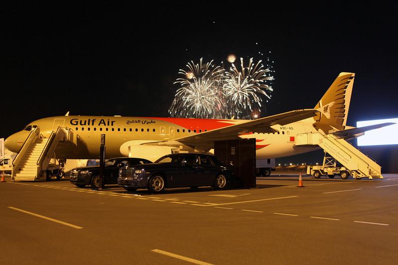 A9C-AD A320-200 Gulf Air. Special Bahrain Airshow colours.