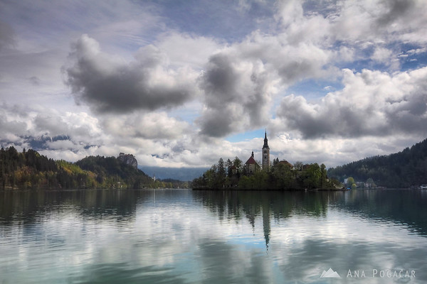 Bled on a dramatic April morning