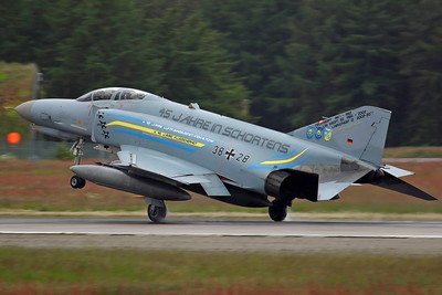 38+28 F-4F German AF JG71. Painted in special markings for 45 Years of Maintenance at Jever. Wittmund 4/6/12.