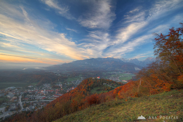 Views of Kamnik from Špica hill