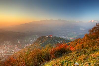 Kamnik from Špica - Oct 23, 2012
