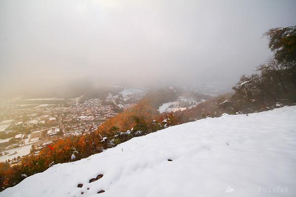 Views of Kamnik from Špica hill.
