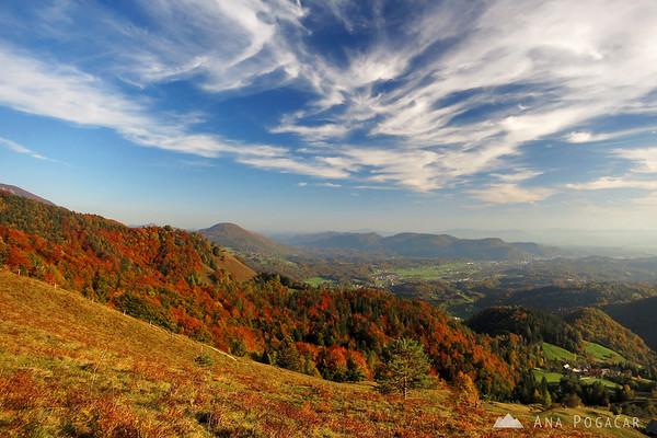 Views toward Kamnik.