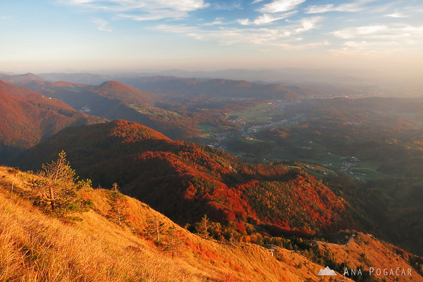 Views toward Kamnik from the top.
