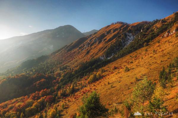 Slopes of Kamniški vrh.