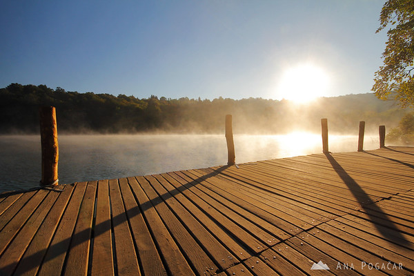 Sunrise mists, Plitvice Lakes NP
