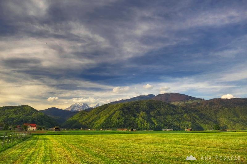 Fields below Mt. Krvavec