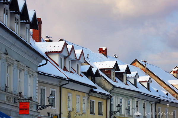 Šutna street roofs