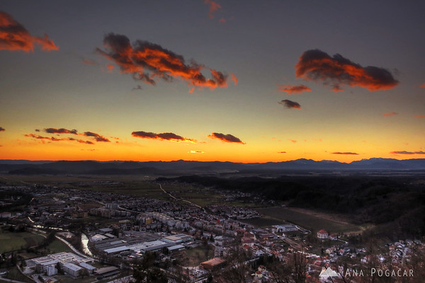 Kamnik after sunset