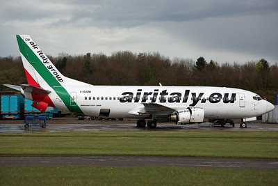 I-AIGM B737-300 Air Italy. Arrived on 19th as AEY869 for scrapping. Bruntingthorpe 22/4/12.