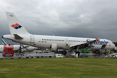 EC-HQZ A321-200 Spanair. Arrived on 5th from Dublin for scrapping. Bruntingthorpe 22/4/12.