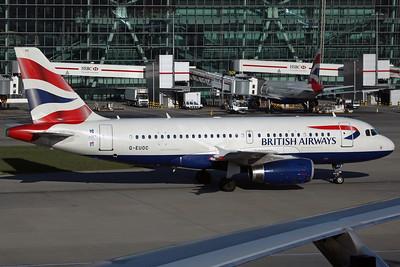 G-EUOC A319-100 British Airways. LHR 16/4/12.