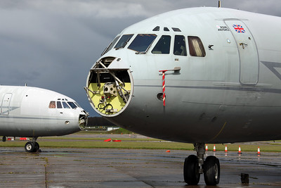 XV107/X VC-10 C1K RAF 101Sq. Arrived on 13/12/11 as RRR859 for scrapping. Bruntingthorpe 22/4/12.