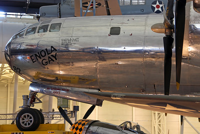 44-86292 B-29-45-MO USAAF 393CS/509CG 'Enola Gay'. Dropped the first atomic bomb 'Little Boy' on Hiroshima on 6/8/45. Later converted to Silverplate Victor number 82, before storage and eventual full restoration and display here in 1995.