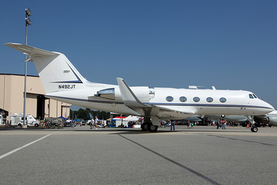 N492JT Gulfstream 2SP (082) Constellation Productions Inc 'Jettson'. Donated to the Museum of Aviation by John Travolta (named after his son Jett). On static display before being transported by road to the museum.