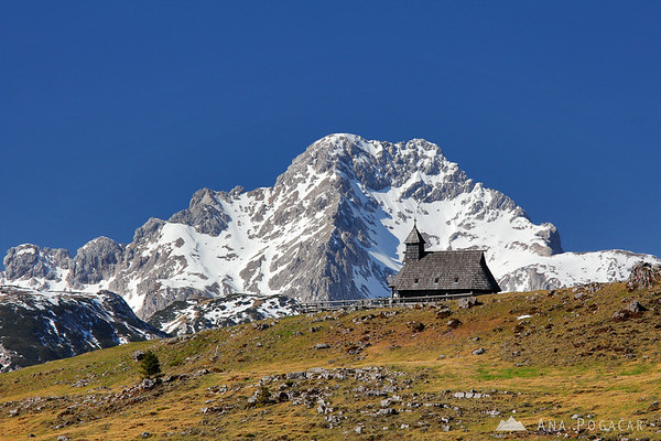 Mt. Ojstrica and the chapel