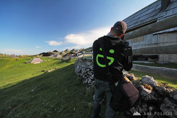 Anton and Ana shooting video on Velika planina