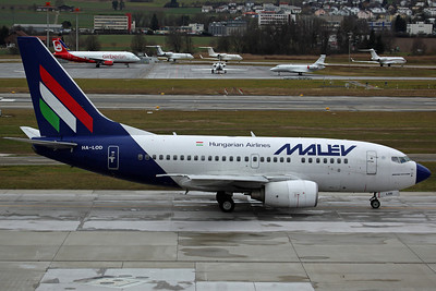 HA-LOD B737-600 Malev. Ferried to Shannon 11 days later after the airline ceased operations that day (Later ferried to Goodyear on 14/2 for scrapping).