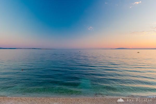 Sunset at the beach in Stara Baška