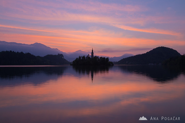 Before sunrise at Lake Bled