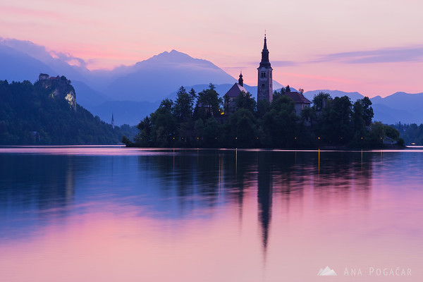 Before sunrise at Lake Bled