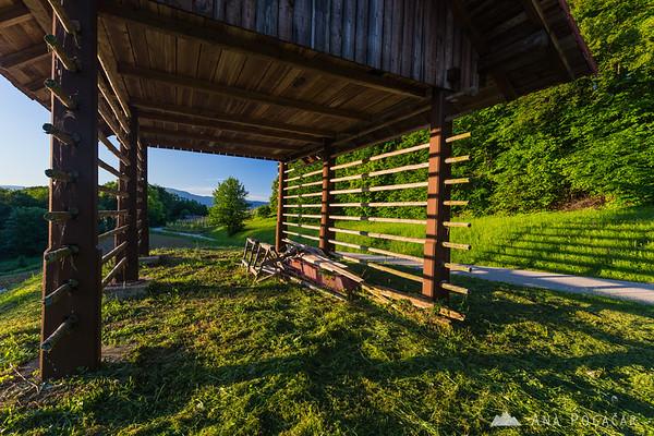 A hayrack on Trška gora hill