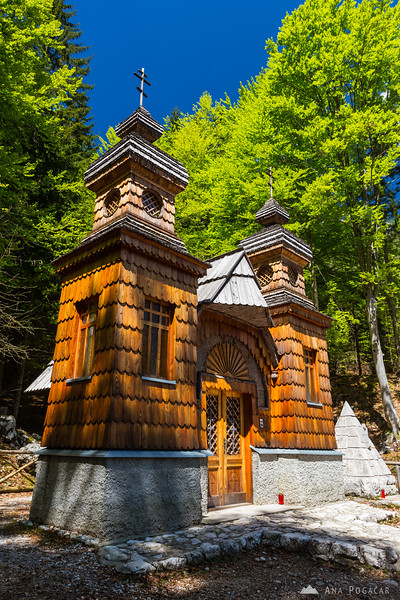 The Russian chapel on the Vršič pass road