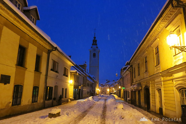Snowing in Kamnik
