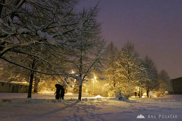 Snowing in Kamnik