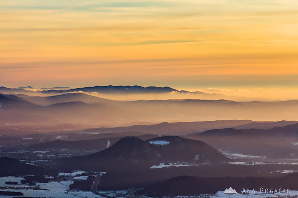 Šmarna gora from Kriška planina