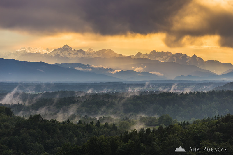Looking towards the Julian Alps from Tunjice
