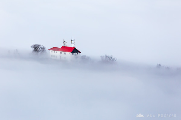 Stari grad from Špica hill above the fog