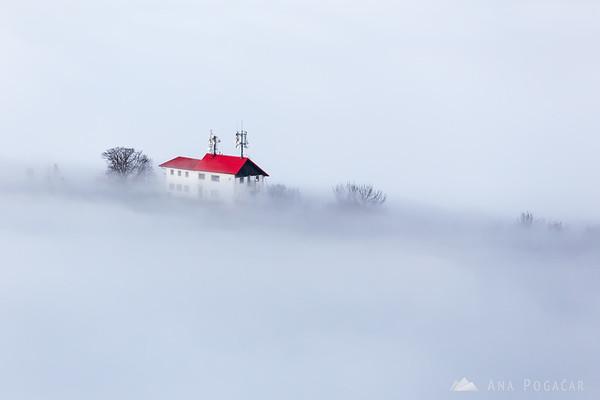 Stari grad from Špica hill above the fog