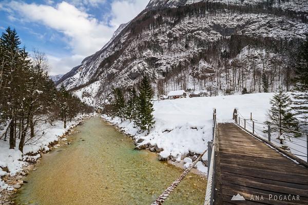 Soča river in the Trenta valley,